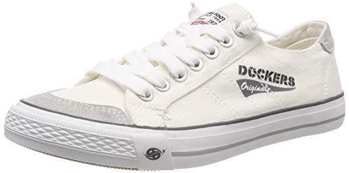 Dockers by Gerli Herren 30ST027-790500 Sneaker, Weiß (Weiss 500), 44 EU