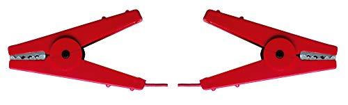 AKO Zaunverbindungskabel, 60cm - mit 2 Krokodilklemmen in rot - Schnelles Verbinden der Reihen am Zaun - Geeignet für Seil, Litze, Band, oder Draht - Kabellänge 60cm