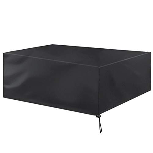"""Vaupan Patio Furniture Covers Waterproof, 32""""x 32""""x 27.5"""" Outdoor Furniture Covers Made of Heavy Duty Oxford Fabric, Windproof Rain Snow Dust Wind-Proof, Anti-UV Patio Table Chair Cover(Black)"""
