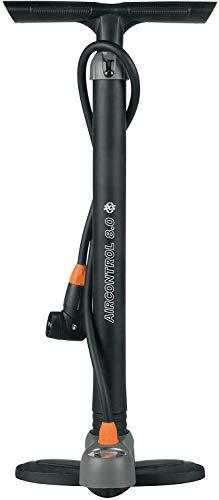 SKS alle Stand-Luftpumpe mit Manometer und Duokopf für alle Ventilarten Air X-Press, schwarz-grau, One Size