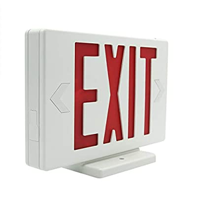 HYD-PARTS LED Exit Sign Emergency Wall Light, Back -up Letter Cover