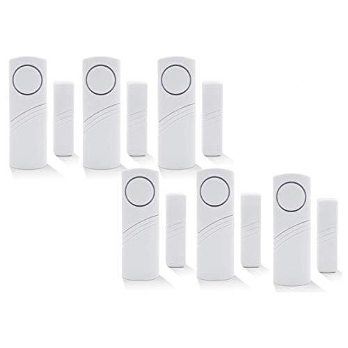 Xemz Sistema de alerta inalámbrica para ventana/puerta – Más sirena de 90 dB para la oficina/escuela/hotel/hogar/tienda de seguridad – DIY fácil de instalar (6)