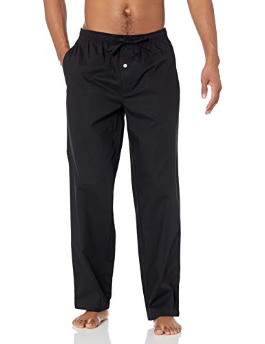 Amazon Essentials Woven Pajama Pant Parte Inferior de Pijama, Negro, XXL
