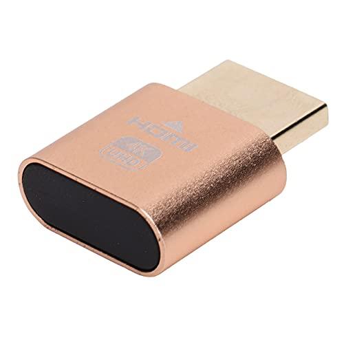 ダミープラグ、コンピューターアクセサリ3840 X2160解像度のプラグ用ホットスワップ可能ディスプレイエミュレーター(ゴールド)