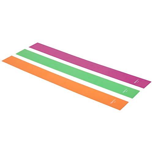 Amazon Basics – Bandas de resistencia de elastómero termoplástico (TPE), 1500 mm, juego de 3 uds.