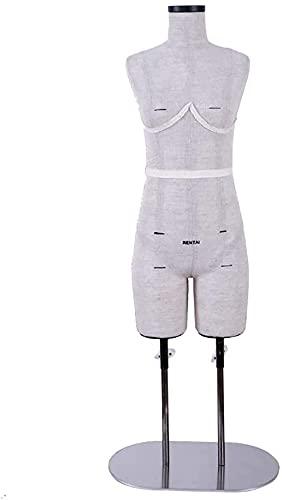 テーラーダミードレスフォームマネキン、調節可能な高さ女性テーラーダミー、1:2スケールドレスフォームドレスマーカーマネキン (Color : A)