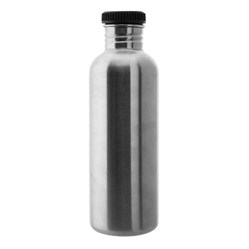 Laken Botella de Acero Inoxidable con Tapón de Rosca Negro y Boca Ancha 350ml-1L