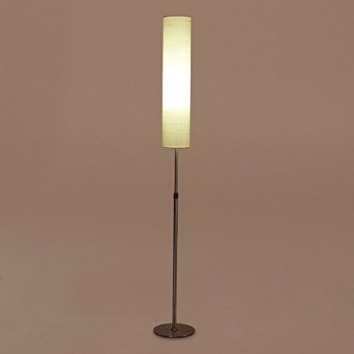 Staande lamp verticale LED afstandsbediening dimmen staande lamp, modern creatief light study slaapkamer nachtkastje woonkamer staande lamp LED (kleur: geel licht)