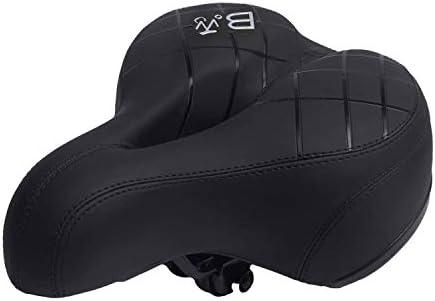 BWBIKE Wide Soft Flexible Bike Seat Cushion Shockproof Design Big Bum Extra Comfort Bike Saddle Fits MTB Mountain Bike,Folding Bike,Road Bike,Spinning Bike, Exercise Bikes