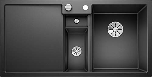 Blanco 523344 Collectis 6 S Küchenspüle aus Silgranit Anthrazit , Becken rechts, Excenter