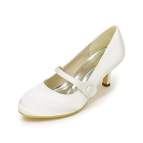 Zapatos De Boda Zapatos De Novia con Punta Cerrada Mujeres Mary Jane...