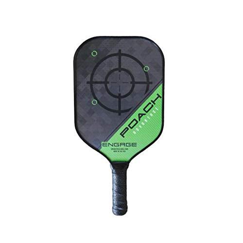 "Engage Pickleball ENGAGEPICKLEBALL Poach Advantage 16"" x 8"" Paddle - Green LITE (ADV105), Lite (7.5-7.8 oz)"