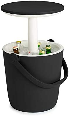 Keter Go Bar 4 2 Gallon Beer and Wine Cooler with Handle and Pop Up Outdoor Table Perfect for product image