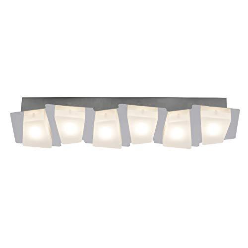 Brilliant Block LED Deckenleuchte 6 flg chrom/weiß 1800 Lumen, LED integriert