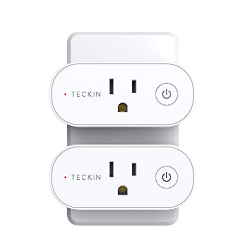 Smart Plug Compatible with Alexa, Google Home, TECKIN Smart Plug 15A WiFi Outlet Support High Power Appliance, Alexa WiFi Plugs with Timer Function (2 pack)