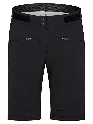 Ziener Damen NYE X-Function Fahrrad-Shorts/Rad-Hose mit Innenhose - Mountainbike/Outdoor/Freizeit - atmungsaktiv|schnelltrocknend|gepolstert, Black, 40