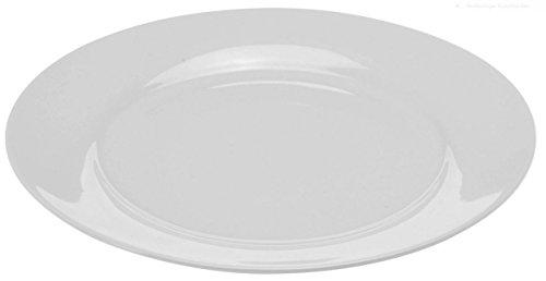 Teller in weiß - Geschirrset - Speiseteller, Suppenteller und Schalen (28 cm - Speiseteller 6er Set)