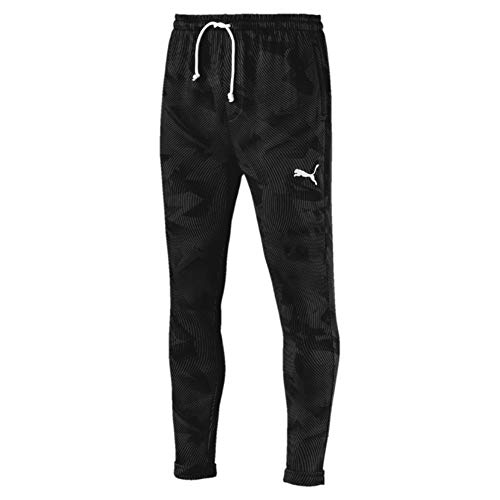 Puma Herren Cup Casuals Sweat Pants Jogginghose, Black-Whisper White, M