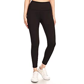 High Waist Active Flex Tummy Control Athletic Leggings & Shorts with Hidden Inner Pockets