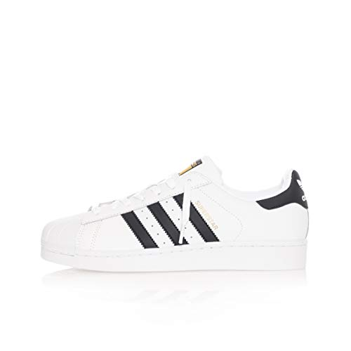 adidas Superstar Sneakers Unisex Adult Black Size: 9 UK