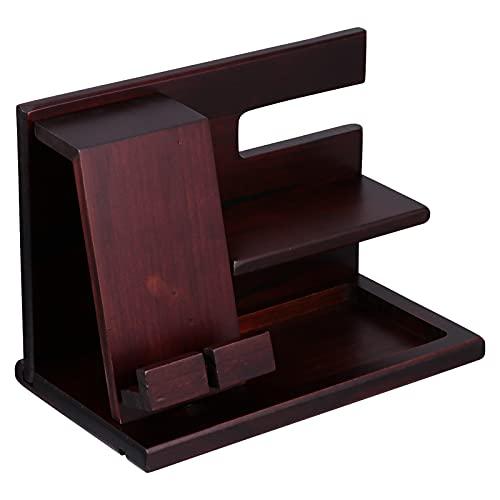 PartyKindom DIY teléfono de madera estación de acoplamiento titular de la llave de la cartera del soporte de la exhibición del reloj organizador del teléfono celular soporte para el