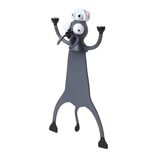 HUVE Lindo Marcador 3D Divertido Estéreo Dibujos Animados Encantador Animal Marcador Creativo Lobo Libro Marcas Gato Ratón Conejo Marcadores para Niños Regalo De Niña Oficina Escuela Kawaii Papelería