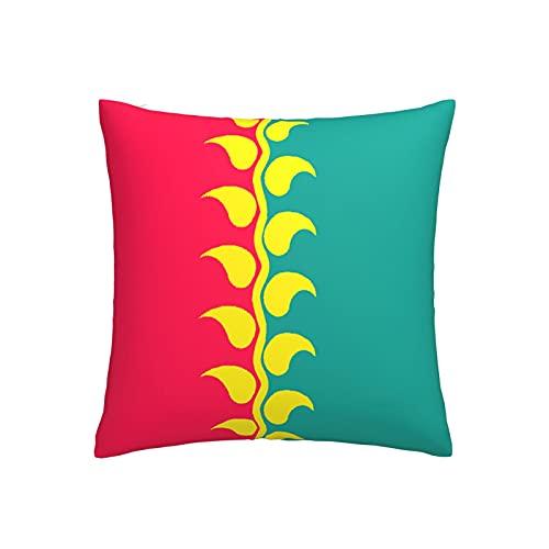 Kissenbezug mit Bolivien-Flagge, Blume in der Mitte, quadratischer dekorativer Kissenbezug für Sofa, Couch, Zuhause, Schlafzimmer, drinnen & draußen, niedlicher Kissenbezug 45,7 x 45,7 cm