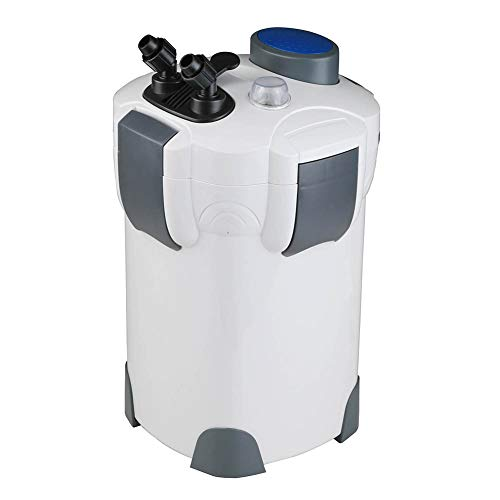 Polar Aurora Free Media 4-Stage External Canister Filter with 9-watt Light, 525 GPH with Free Media