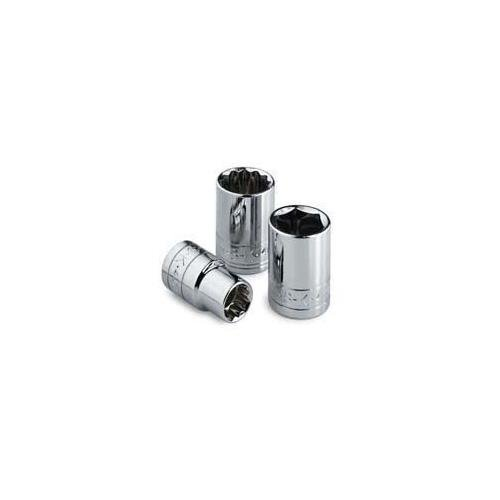 SK Professional Tools 310 3/8 in. Drive 6-Point Metric Standard Chrome Socket