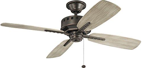 """Kichler 310152OZ Eads Patio 52"""" Outdoor Ceiling Fan, Olde Bronze"""