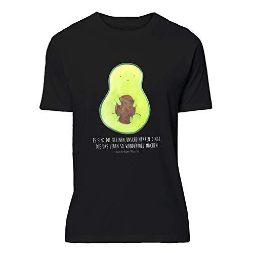 Mr. & Mrs. Panda T-Shirt, Größe M T-Shirt Avocado mit Kern mit Spruch - Farbe Schwarz