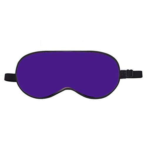 Normallack-justierbare Elastische Schattierende Augenmaske, Seidensamt Der Kinder Breathable Schlaf-Schutz-Luft-Band Geruchloses 17cm (Farbe : Lila, größe : 1 pcs)