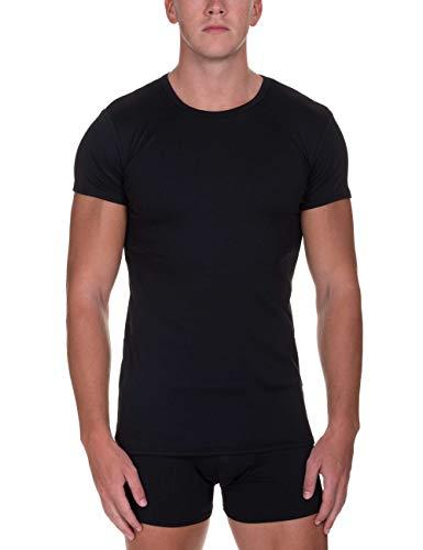 bruno banani Herren Shirt Rib Made Unterhemd, Schwarz (Schwarz 007), (Herstellergröße: XX-Large)