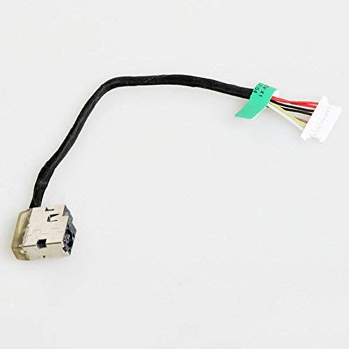 DBParts DC Power Jack Cable For HP Envy 15-AE041NR 15-AE042NR 15-AE076CA 15-AE178CA 15T-AE000 15T-AE100 M6-P013DX M6-P014DX M6-P113DX M6-P114DX, P/N: 812681-001 813945-001 799736-T57, 7-Wire 8-Pin
