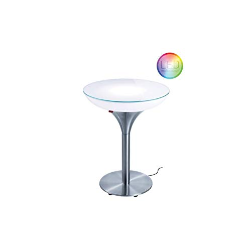 Moree Table de bar Lounge M 75 Outdoor - Avec éclairage LED PRO et télécommande