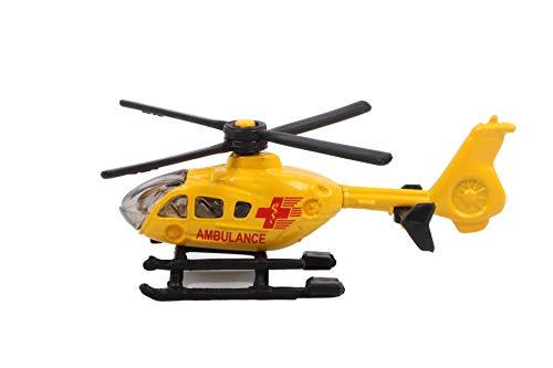 SIKU 0856, Rettungshubschrauber, Metall/Kunststoff, Gelb, Drehbare Rotoren