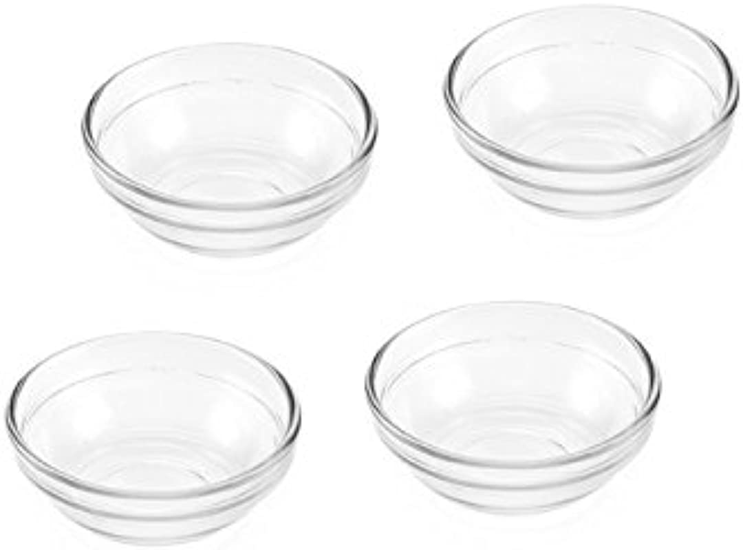 Mini Glass Pinch Prep Bowls Set Of 4