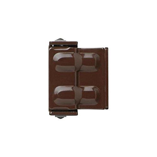 ABUS SW1 kurzer Sicherheitswinkel für Fenster und Türen in braun