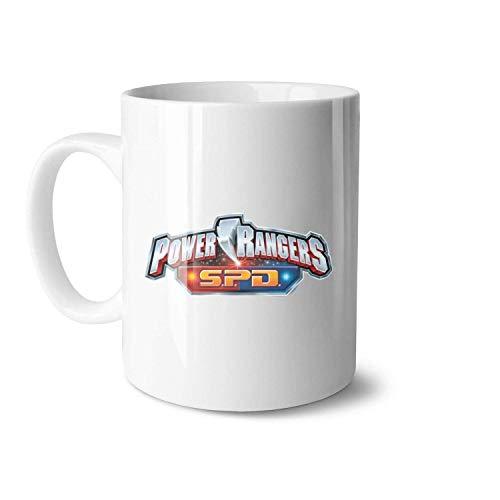 N\A Power Rangers SPD Weiße Keramik-Teetassen Geeignet für Eltern-Kind Wunderschöne Tasse Big Size