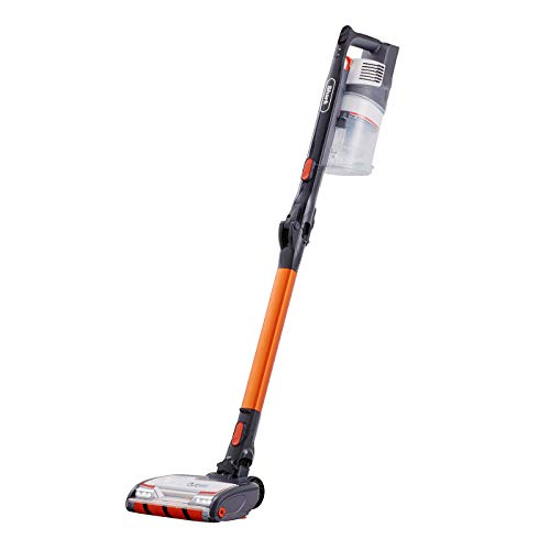 Shark Cordless Stick Vacuum Cleaner [IZ201UK] Anti Hair Wrap, Single Battery, Orange and White