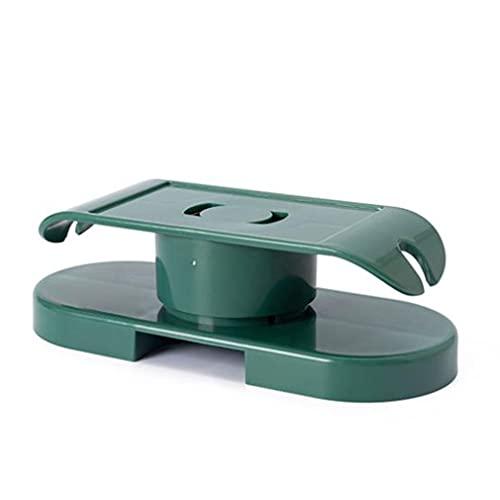 Colgador de Enchufe Multifuncional, Autoadhesivo, montado en la Pared, Soporte de regleta de alimentación, Organizador de Cables Giratorio, fijador de enchufes (Verde Militar)