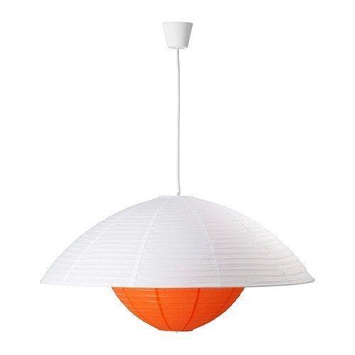IKEA TRENDIG Lampenschirm, Papier, 80cm, Weiß/Rot