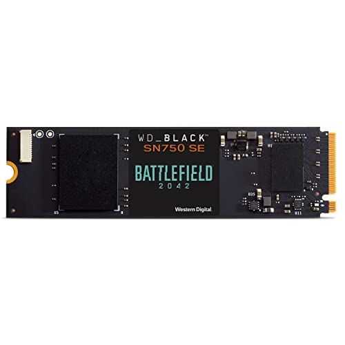 WD_BLACK SN750 SE 1 TB NVMe SSD Battlefield 2042 PC Game Code Bundle, mit Lesegeschwindigkeiten von bis zu 3600MB/s
