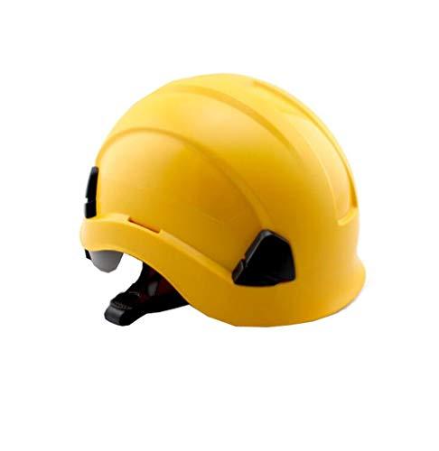 LIAN Schutzhelm Baustelle ABS Material Klettern Kollision Anti-Kollisions-Isolierkappe Mehrfarbig Optional (Color : Yellow)