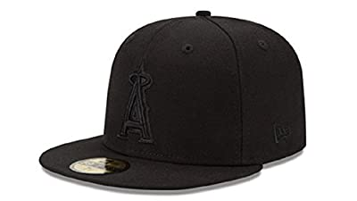 New Era 59Fifty Hat MLB Basic Anaheim Angels Black Fitted Baseball Cap