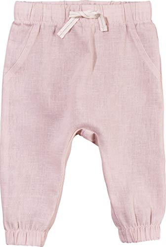 Lupilu Pure Collection Baby Mädchen Hose Leinenhose Sommerhose aus Bio-Baumwolle mit Leinen (rosa, Gr. 62)