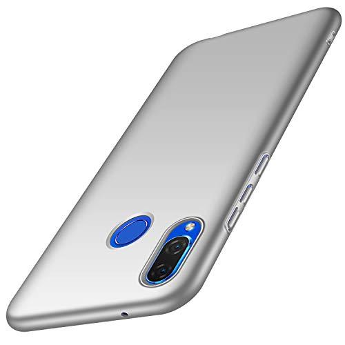 anccer Huawei P Smart Plus/Nova 3i Hülle, [Serie Matte] Elastische Schockabsorption & Ultra Thin Design für Huawei P Smart Plus/Nova 3i (Glattes Silber)