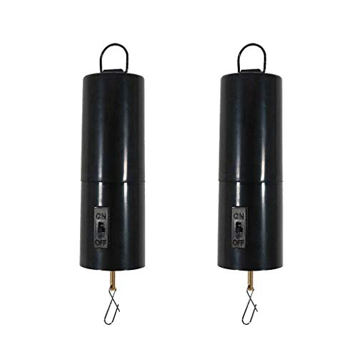 2 Pieces Hanging Rotating Motor Wind Chimes Revolve Twist Turn Battery Powered Twirl Motor Suit for Garden Decor Accessory