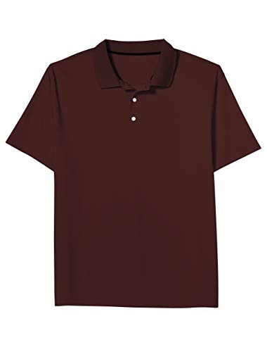 Amazon Essentials Men's Big & Tall Quick-Dry Golf Polo fit by DXL, Port, 2XL