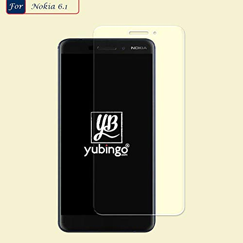 YuBingo Screen Guard for Nokia 6.1 (2018) (Flexible. Shatter & Scratch Resistant, HD Clarity, Case Friendly)